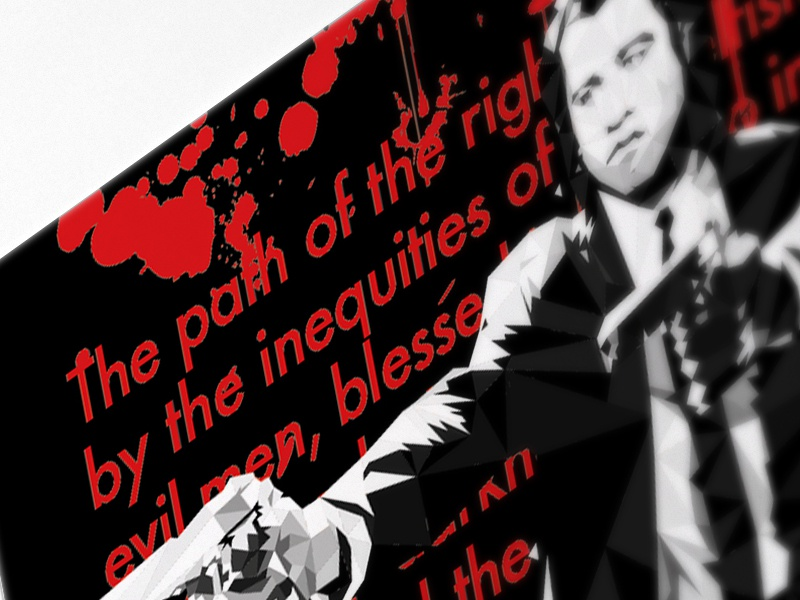 Pulp Fiction: Ezekiel pulpfiction illustration illustrator geometric art artwork poster blood red ezekiel tarentino