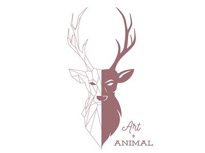 Logoartanimal 01 logo adobe illustrator vector art rose logo deer logo deer stag logo stag geometric logo geometric design geometric logo design