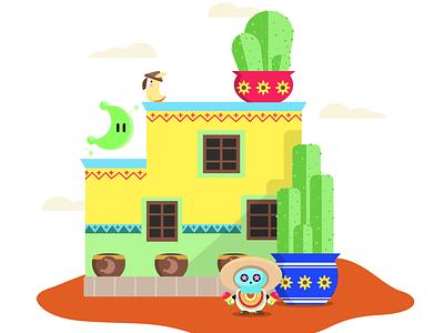 Tostarena desert mario odyssey mario tostarena vector nintendo switch adobe illustrator vector art illustration