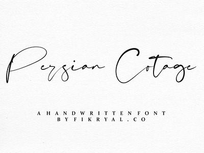 Persian Cotage label magazine invitation font advertisements tittle script lettering logo design branding