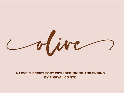 olive photography label magazine invitation font advertisements tittle script lettering design logo branding