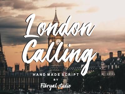 London Calling photography label magazine invitation font advertisements tittle script lettering design logo branding