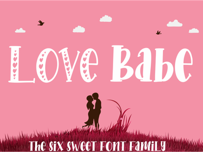 Love Babe photography label magazine invitation font advertisements tittle script lettering design logo branding