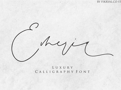 Emeria photography label script font product packaging illustration tittle advertisements invitation font logo calligraphy branding