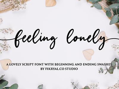 feeling lonely photography magazine label script lettering invitation font advertisements tittle design logo branding