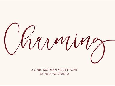 Charming script lettering social media posts product designs design invitation label advertisements tittle logo branding
