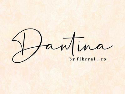 Dantina // handwritten font vector script lettering beauty script font typography branding design logo font