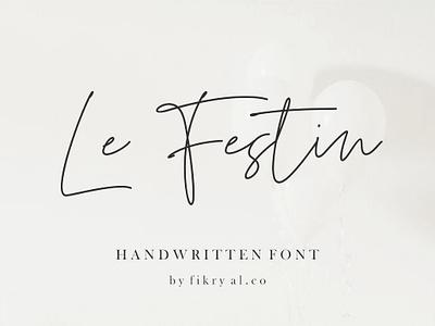 Le Festin // handwritten font brochur signature luxury love tittle brand logo typorgraphy chic design branding