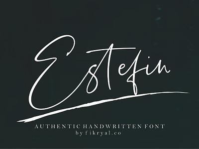 Estefin graphic mockup handwritten signature chic love magazine script lettering font logo design branding