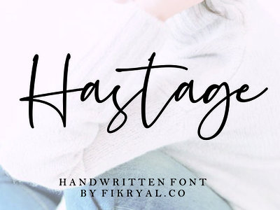 Hastage // Handwritten font magazine special event watermark photography label product designs product packaging advertisements social media posts wedding designs tittle invitation branding logo