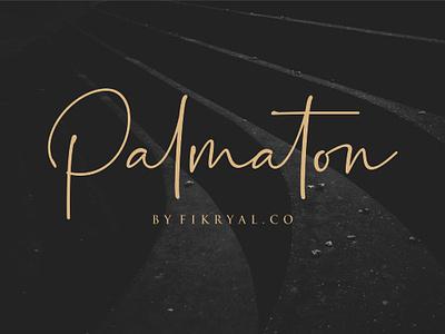 Palmaton // Handwritten Font typography script font font design script lettering web design magazine special event watermark photography label product designs product packaging advertisements social media posts wedding designs tittle invitation branding logo