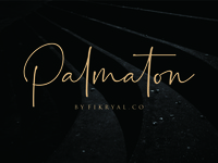 Palmaton // Handwritten Font