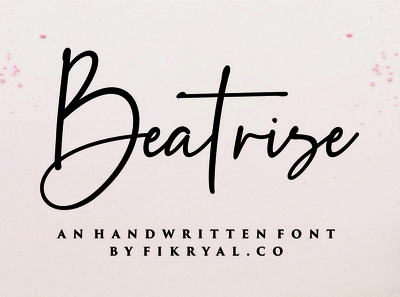 Beatrise Handwritten Font