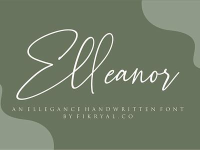 Elleanor - Handwritten Font label invitation advertisements tittle magazine script lettering font design logo branding