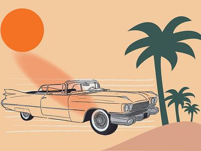 Sunset on the road app icon branding tittle ux vector illustration invitation design logo