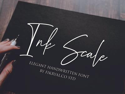 Ink Scale - Handwritten font label magazine invitation font advertisements tittle script lettering design logo branding