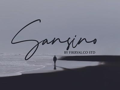 Sansino - Font label magazine invitation font tittle script lettering advertisements design logo branding