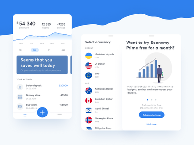 Expense Accounting Application Concept accounting ux ui figma freebie concept app application expenses finance