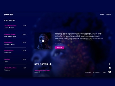Internet Radio web design illustration
