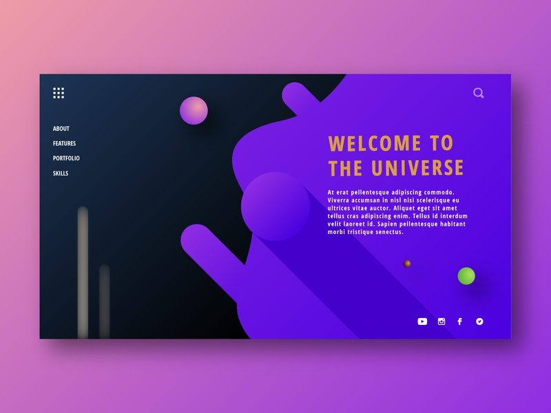 Welcome To The Universe web illustration design