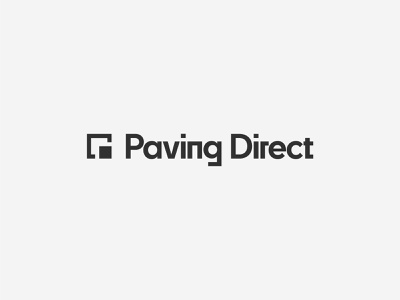 Paving Direct – Identity Design shipping container container black logo design logo strong square masculine bold paving builder engineering building architecture architect brand identity identity