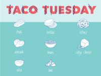 Taco Tuesday Illustrations