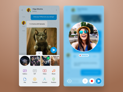 Telegram concept redesign whatsapp ux ui telegram redesign messanger messaging concept clean chatting chat blue app android