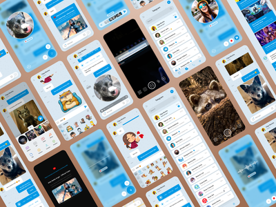 Telegram concept redesign sketch whatsapp ux ui telegram redesign messanger messaging concept clear clean chatting chat blue app android