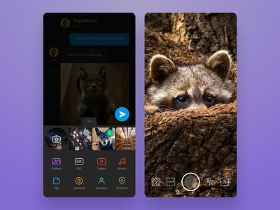 Telegram concept redesign (Dark mode) whatsapp ux ui telegram sketch redesign night mode messanger messaging figma dark theme darl mode dark concept clear clean chatting blue app android