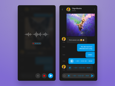 Telegram concept redesign (Dark mode) whatsapp ux ui telegram sketch redesign night mode messanger messaging figma dark theme dark mode dark concept clear clean chatting blue app android