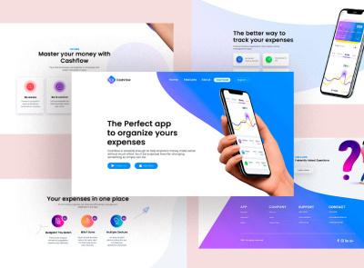 Cashflow - Webdesign page web website branding ui logo design