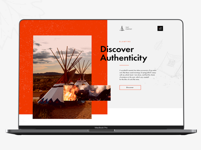Tent Company colorful design web ad site simple discover tent glamping minimal logo ux typography camping camp website web branding ui design