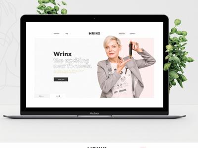 Landing Page - WrinX
