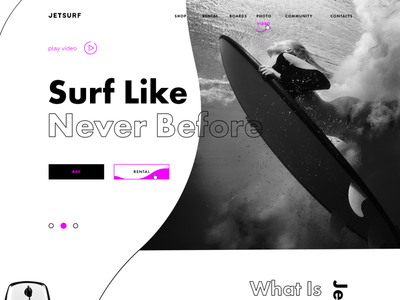 Jetsurf Landing Page Web Site