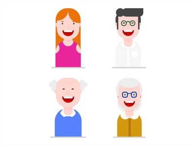 Family character vector flat design drawing characterdesign illustration