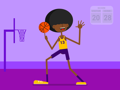 Basketball player graphicdesign design character vector characterdesign drawing flat design illustration