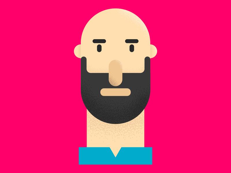 portrait vector drawing texture character flat design characterdesign illustration