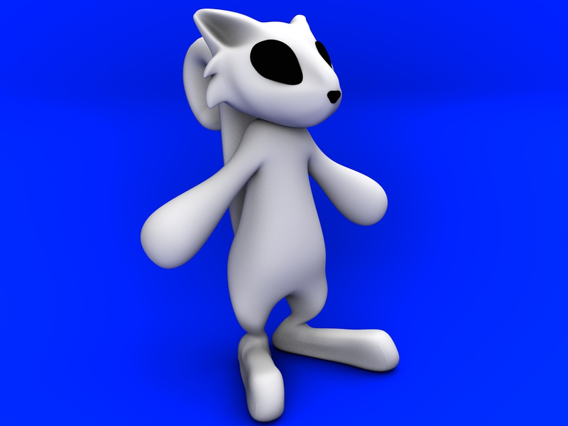 Cat Icon c4d character modeling 3d