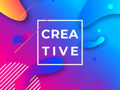 Creative gradient graphics graphicdesign vector design illustration