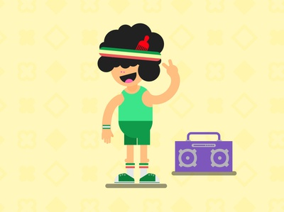 80´s graphicdesign design character vector flat design drawing characterdesign illustration