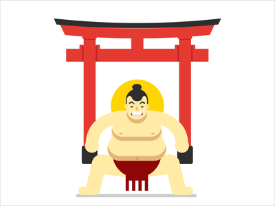 Sumo flat graphicdesign design character vector flat design drawing characterdesign illustration