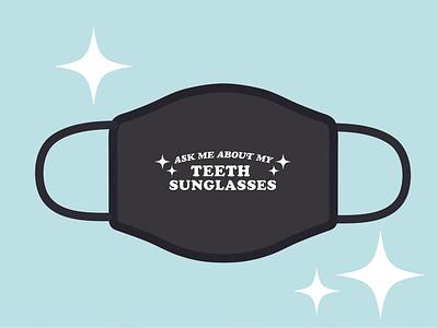 Teeth Sunglasses Mask coronavirus covid19 typography covid mask design design mask
