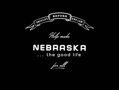 The Good Life For All typography design for good designforgood omaha nebraska black lives matter