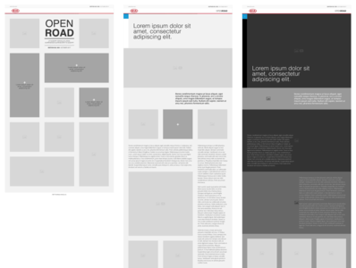 Kia E-Magazine Wireframe Design ui design ux design wireframe design wireframe