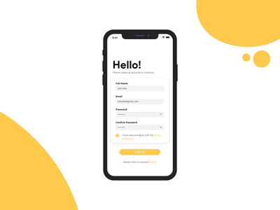 Daily UI #001: Sign Up graphic desgin minimal user inteface app design daily 100 daily 001 dailyui design ui app sign up signupform signup page signup screen typography graphic  design daily ui 001