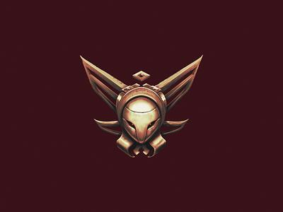 Bronze concept eyes ranking glow mask helmet bronze icon rank