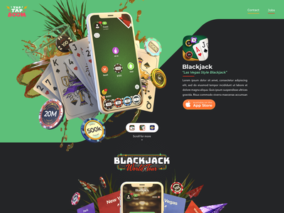 Very old site mockup for TTB mockup website chips branding casino blackjack dimensions adobe 3d ui