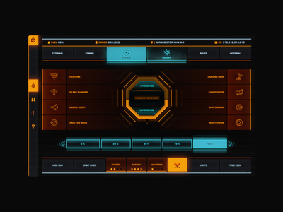 Out of context interfaces for GG elite dangerous figma design system design ui