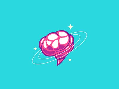 @neuronenvogue stars space brain logo branding blog pop instagram science vogue neuron