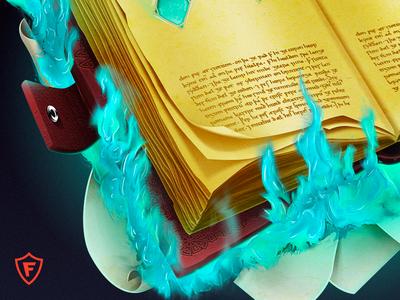 Magic book of secrets harry potters vajj frontmenstudio fire mage awsm